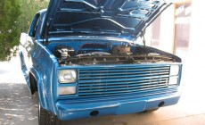chevy blue front end